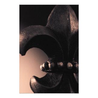 Impresión del arte de la flor de lis fotografía