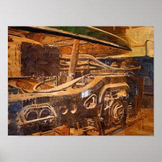 Impresión del arte de la locomotora eléctrica GG-1 Posters