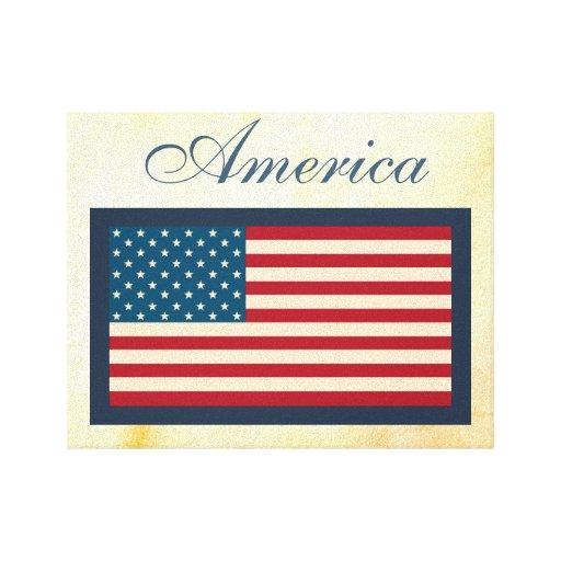 Impresión del arte de la lona de la bandera americ impresion de lienzo