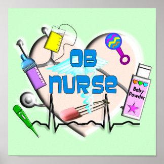 Impresión del arte de la lona de la enfermera de O Poster