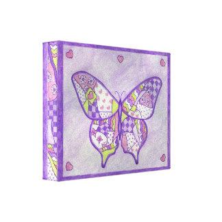 Impresión del arte de la lona de la mariposa impresión en lona