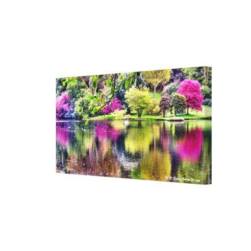 Impresión del arte de la lona del lago swan impresiones en lona