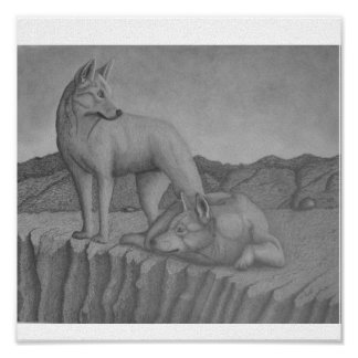 Impresión del arte de la lona. Dingos también (war Póster