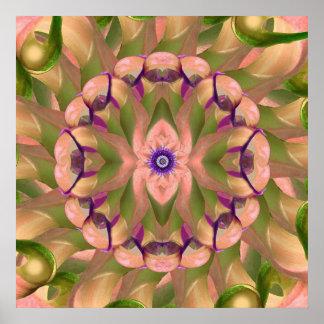 Impresión del arte de la mandala de Lotus de la Impresiones