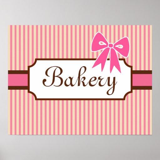 Impresión del arte de la panadería del estilo del  posters