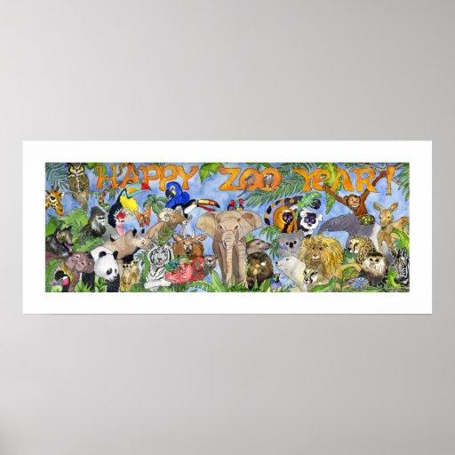 Impresión del arte de la pared del parque zoológic poster