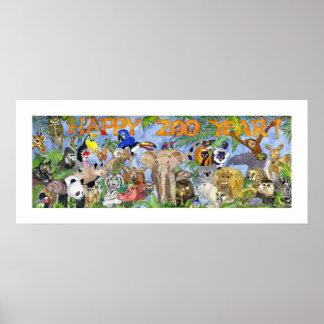 Impresión del arte de la pared del parque zoológic póster