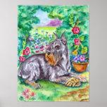 IMPRESIÓN del arte de la pared del perro del Schna Poster