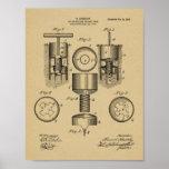 Impresión del arte de la patente de diseño del