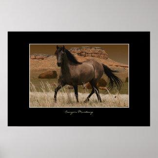 Impresión del arte de la protección del caballo de póster