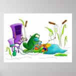 Impresión del arte de la rana de la anestesia poster