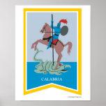 Impresión del arte de la región de Calabria Italia Poster