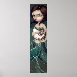 Impresión del arte de la sirena de Shell del nauti Poster