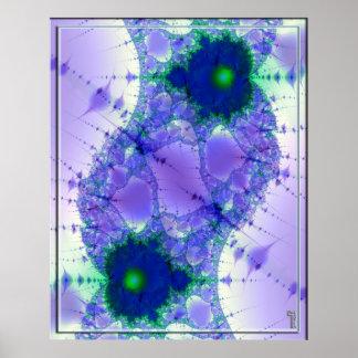 Impresión del arte de la variación 2 de la fusión  poster