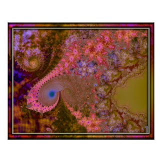 Impresión del arte de la variación 6 de los espira póster