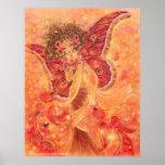 Impresión del arte de las alas del carmesí poster