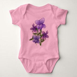 Impresión del arte de las flores de la violeta playeras