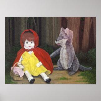 Impresión del arte de las muñecas rojas de la cap impresiones