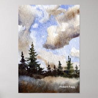 Impresión del arte de las nubes de la ruta 55 impresiones