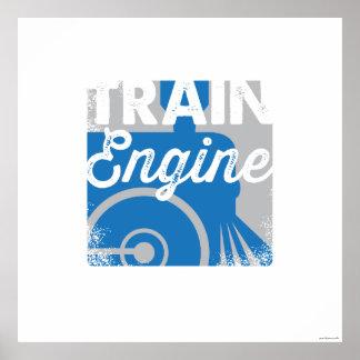 Impresión del arte de los niños del tren del motor impresiones