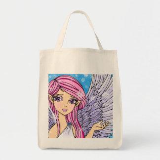 Impresión del arte de Personalizabel del ángel de Bolsa Tela Para La Compra