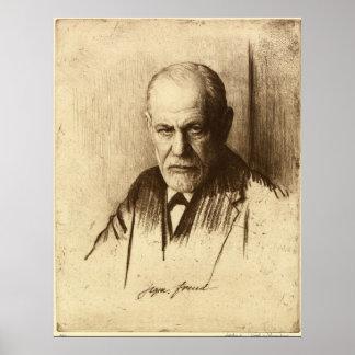 Impresión del arte de Sigmund Freud Póster