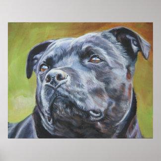 impresión del arte de Staffordshire bull terrier Posters
