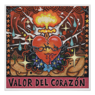 """Impresión del arte de """"Valor Del Corazon"""" - (arte Póster"""