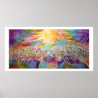 """Impresión del arte del ángel del """"guarda"""" poster"""