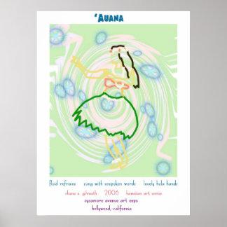 Impresión del arte del bailarín de Hula Posters