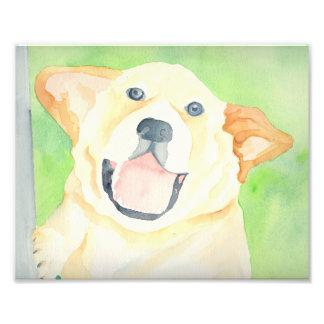 Impresión del arte del beagle del cacahuete fotografias