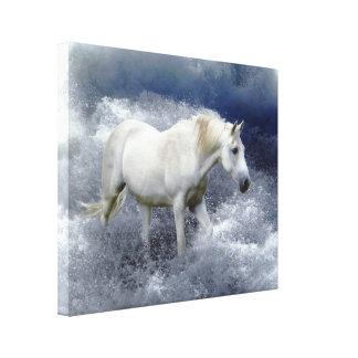 Impresión del arte del caballo blanco de la fantas impresión en lienzo estirada