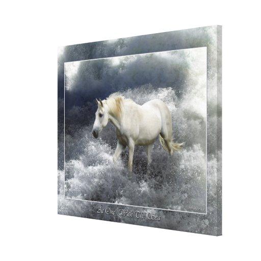 Impresión del arte del caballo blanco de la fantas impresion de lienzo
