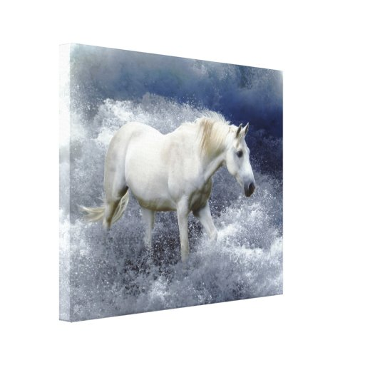 Impresión del arte del caballo blanco de la fantas impresiones en lona