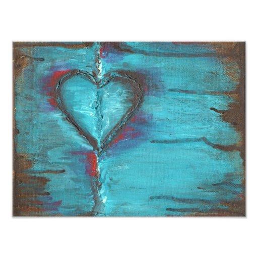Impresión del arte del corazón fotografías