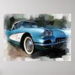 Impresión del arte del Corvette Poster