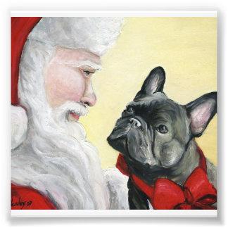Impresión del arte del dogo francés y del perro de fotografía