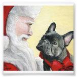 Impresión del arte del dogo francés y del perro de impresión fotográfica
