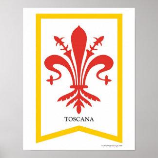 Impresión del arte del escudo de la región de Tosc Póster