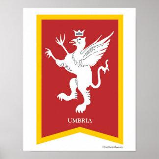 Impresión del arte del escudo de la región de Umbr