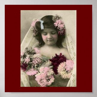 Impresión del arte del florista del Victorian del  Póster