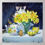 Impresión del arte del gato de calicó impresiones