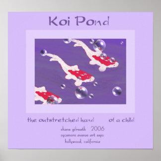 Impresión del arte del Haiku de la CHARCA de KOI Posters