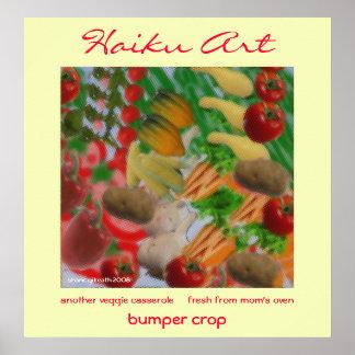 Impresión del arte del Haiku de la cosecha de para Poster