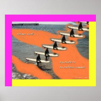 Impresión del arte del Haiku de la inflamación del Posters