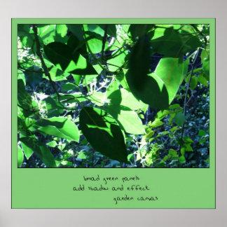Impresión del arte del Haiku de la lona del jardín Póster