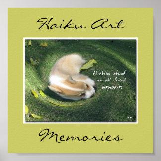 Impresión del arte del Haiku de las memorias Posters