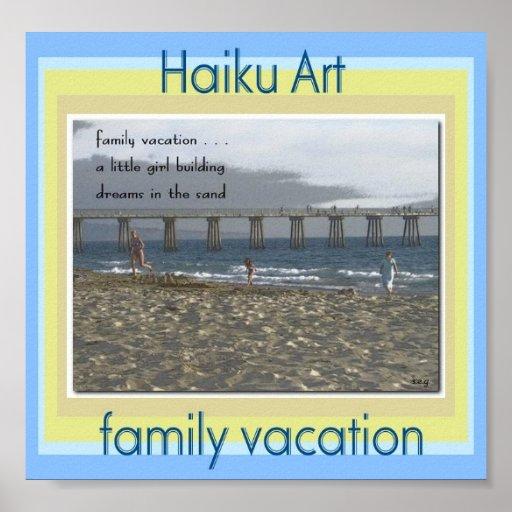 Impresión del arte del Haiku de las vacaciones de  Poster