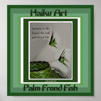 Impresión del arte del Haiku de los pescados de la Póster