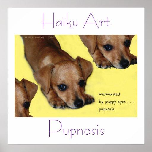 Impresión del arte del Haiku de Pupnosis Impresiones